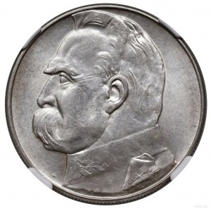 10 złotych, 1935, Warszawa; Józef Piłsudski; Kop. 3003,...