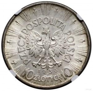 10 złotych, 1936, Warszawa; Józef Piłsudski; Kop. 3004,...