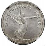 5 złotych, 1928, Bruksela; odmiana bez znaku mennicy za...