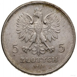 5 złotych, 1932, Warszawa; Nike; Kop. 2947 (R6), Parchi...