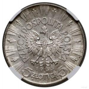5 złotych, 1935, Warszawa; Józef Piłsudski; Kop. 2960, ...
