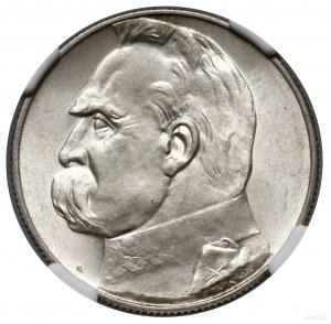 5 złotych, 1938, Warszawa; Józef Piłsudski; Kop. 2967 (...