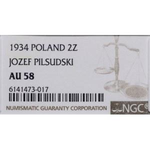 2 złote, 1934, Warszawa; Józef Piłsudski; Kop. 2914, Pa...