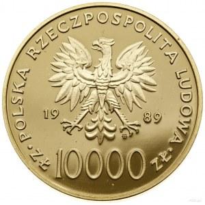 10.000 złotych, 1989, Warszawa; Jan Paweł II (popiersie...
