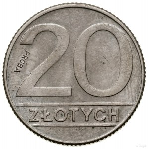 20 złotych, 1989, Warszawa; Nominał – PRÓBA (napis PRÓB...