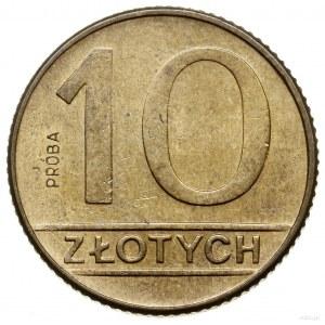 10 złotych, 1989, Warszawa; nominał 10, na rewersie wyp...