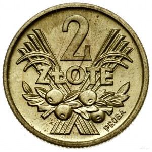 2 złote, 1958, Warszawa; Aw: Orzeł i napis POLSKA RZECZ...