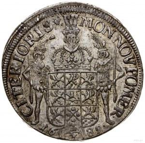 2/3 talara (gulden), 1689 ILA, Szczecin; Aw: Popiersie ...