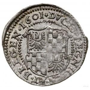 3 krajcary, 1601, Złoty Stok; ARGIOAC w legendzie awers...