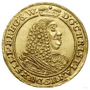 Dukat, 1661, Brzeg; Aw: Ukoronowane popiersie władcy w ...