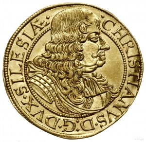 Dukat, 1672, Brzeg; Aw: Popiersie władcy w prawo, CHRIS...
