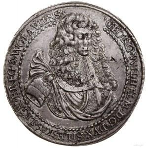 1 1/4 talara pośmiertnego, 1675, Brzeg; Aw: Popiersie w...