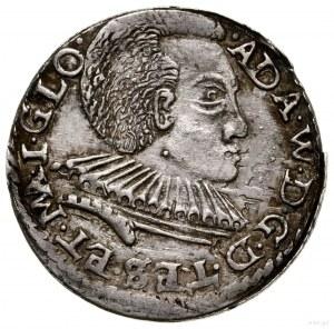 Trojak, 1592, Cieszyn; popiersie księcia bez obwódki, z...
