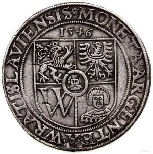 Talar, 1546, Wrocław; Aw: Pięciopolowa tarcza herbowa, ...