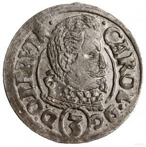 3 krajcary, 1619 CC, Opawa; rzymska cyfra I w dacie; E....
