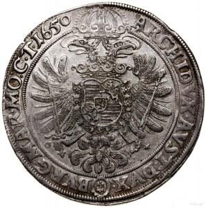 Talar, 1650, Wrocław; Aw: Popiersie władcy w koronie w ...