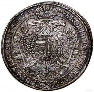 Talar, 1702, Opole; Aw: Popiersie władcy w prawo, LEOPO...