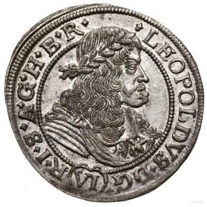 6 krajcarów, 1676, Wrocław; na awersie i rewersie inter...
