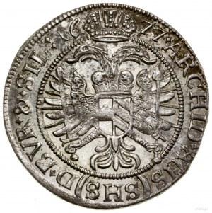 6 krajcarów, 1677, Wrocław; ARCHID AUS w legendzie rewe...