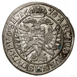 6 krajcarów, 1678, Wrocław; interpunkcja w formie krzyż...
