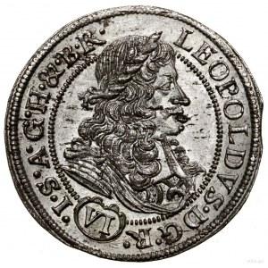 6 krajcarów, 1685, Wrocław; ARCHID AU w legendzie rewer...
