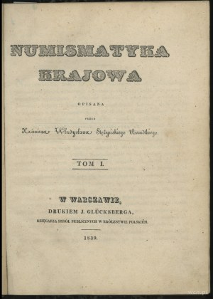 Stężyński Bandtkie Kazimierz Władysław – Numismatyka kr...
