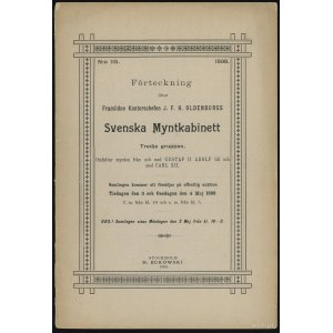 """Katalog aukcyjny H. Bukowski """"Svenska Mynthkabinett 115..."""