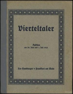 """Katalog aukcyjny Leo Hamburger """"Vierteltaler Auktion"""" 3..."""