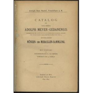 "Katalog aukcyjny Adolph Hess ""Adolph Meyer-Gedanensis M..."