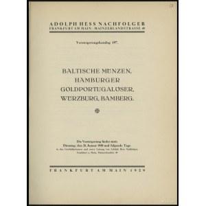 "Katalog aukcyjny Adolph Hess Nachfolger ""Baltische Münz..."