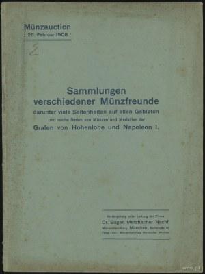 """Katalog aukcyjny Dr. Eugen Merzbacher Nachf. """"Sammlunge..."""
