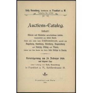 "Katalog aukcyjny Sally Rosenberg ""John Philipp in Danzi..."