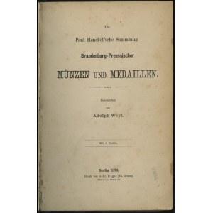 "Katalog aukcyjny Adolph Weyl ""Die Paul Henckel'sche Sam..."