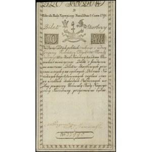 10 złotych polskich, 8.06.1794; seria D, numeracja 3799...