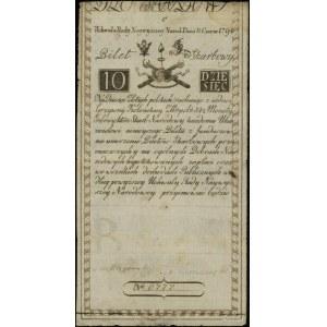 10 złotych polskich, 8.06.1794; seria C, numeracja 6777...