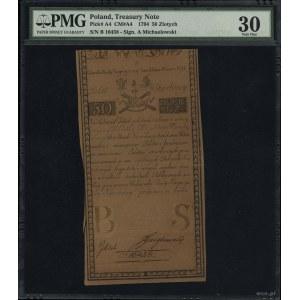 50 złotych polskich, 8.06.1794; seria B, numeracja 1045...