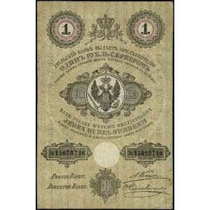 1 rubel srebrem, 1866; seria 254, numeracja 15078710, p...