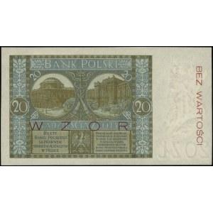 20 złotych, 1.03.1926; seria B, numeracja 0245678, po o...