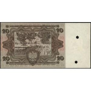 Próba kolorystyczna banknotu 10 złotych, emisji 2.01.19...