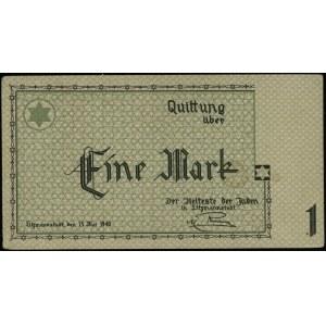 1 marka, 15.05.1940; bez serii i numeracji – niedokończ...