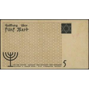 5 marek, 15.05.1940; bez serii i numeracji - niedokończ...