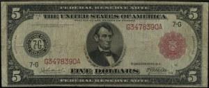 Chicago; 5 dolarów, 1914; numeracja G3478390A, podpisy ...