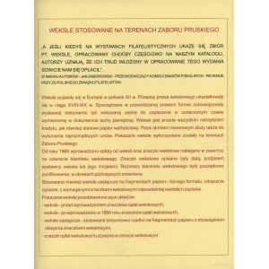 Kolekcja weksli z terenów zaboru pruskiego; 95 weksli z...