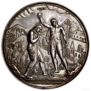 Medal na pamiątkę chrztu, 1872–1879, projektu Józefa Ma...