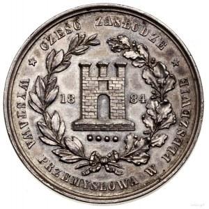 Polska, XIX wiek, medal nagrodowy, 1884; Aw: Godło herb...