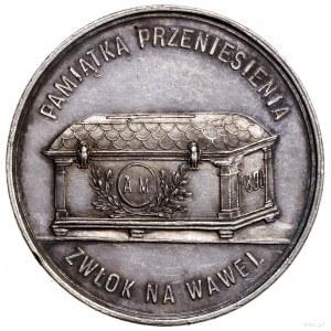 Medal na pamiątkęprzeniesienia zwłok Adama Mickiewicza...