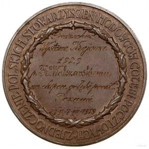Medal nagrodowy za hodowlę gołębi, 1929, projektu Józef...