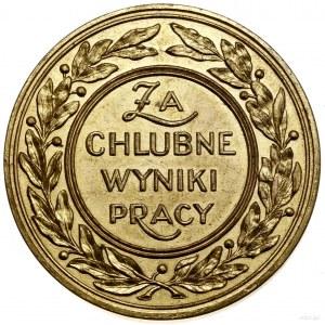 Medal nagrodowy, 1935; Aw: Widok Hali Reprezentacyjnej ...