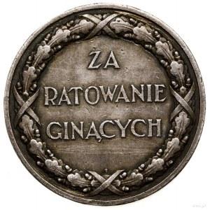 Medal za Ratowanie Ginących, od 1928, Warszawa; Orzeł, ...