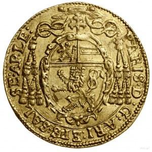 Dukat, 1634, Salzburg; Aw: Trzypolowa tarcza herbowa, p...